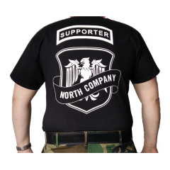 Supporter t-paita, musta